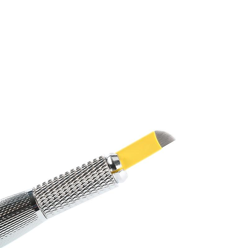 8277bb5b7 الإبر هي sharp و مرونة ، وجعل الحاجب خط جميلة. المواد: 316L الفولاذ المقاوم  للصدأ. لكل شفرة لديها 21 الإبر. قطر كل إبرة: 0.25 ملليمتر. سمك: 0.63  ملليمتر.