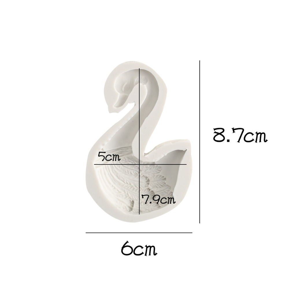 Swan style silicone fondant mold for cake decorating animal chocolate cupcake mould clay resin form kitchen cake tools baking in Clay Extruders from Home Garden