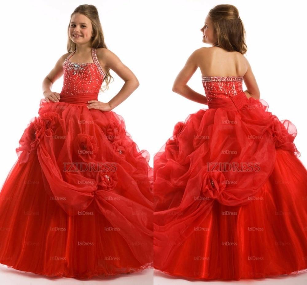 fcb6fd22a714d Petite longueur de plancher bambin filles boule robes parti formelle Glitz  Flower Girls Pageant robes pour filles pour les mariages dans Fleur Fille  Robes ...