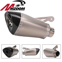 60MM Inlet Motorcycle Carbon Fiber Exhaust Pipe Muffler Slip On Exhaust With DB Killer For BMW S1000RR 2015 2016 2017