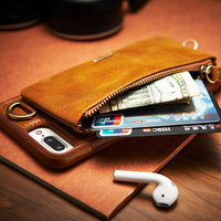 2017 New Arrival 2in1 Wallet Real Leather Case For IPhone 6s 7 6 Cover Card Holder