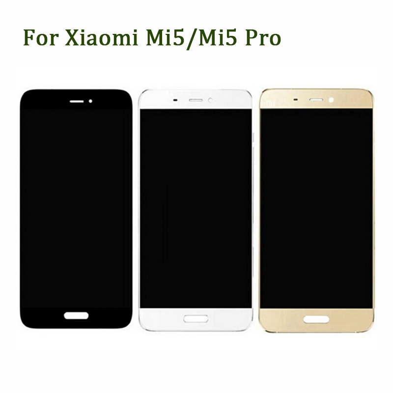 100% New LCD Display +Digitizer Touch Screen Assembly Replacement For Xiaomi MI 5 MI5 Phone Parts And Free Tools for xiaomi mi note pro lcd display 2k touch screen tools 100% new digitizer 2560x1440 5 7 assembly replacement for phone