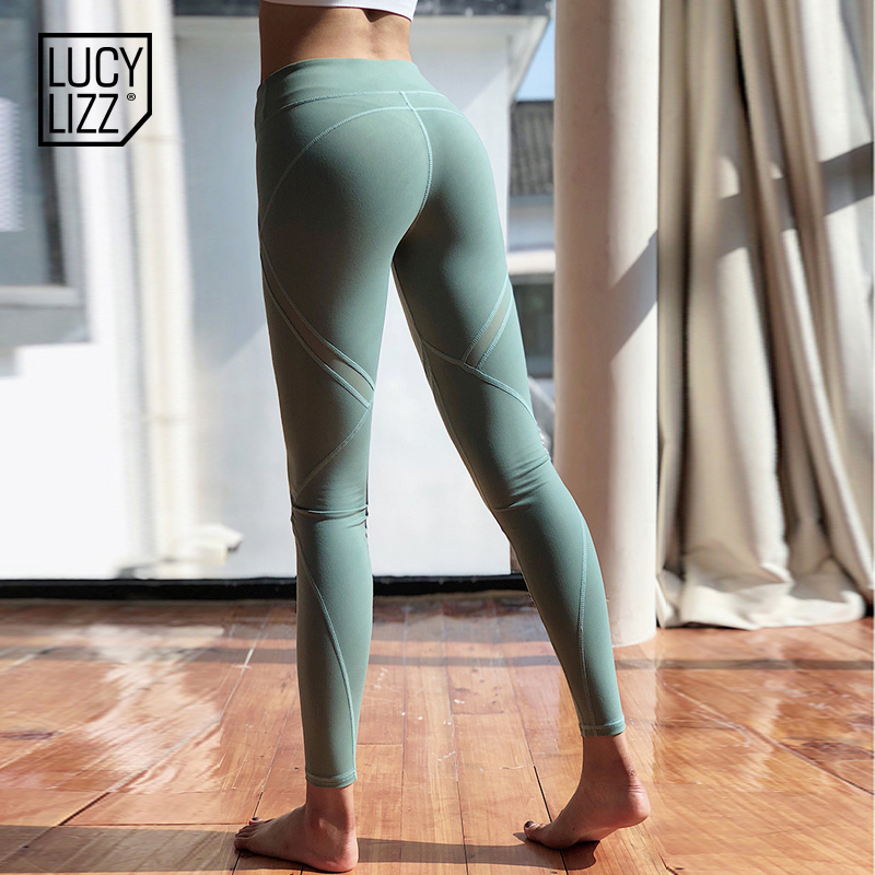 919c45f75a3b9 Lucylizz Mesh Booty Shaping Sport Leggings Fitness Women Breathable Yoga  Pants Gym Leggings Jogging Femme Running Pants-in Yoga Pants from Sports ...