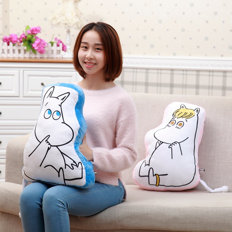 Candice guo cartoon fairy hippo Moomin plush toy sofa cushion warm pillow hand warmer baby christmas present birthday gift 1pc 1pc kids cute gift winter cartoon plush toys hand warmer cartoon animals soft pillow hand hold warm christmas cushion gift 45