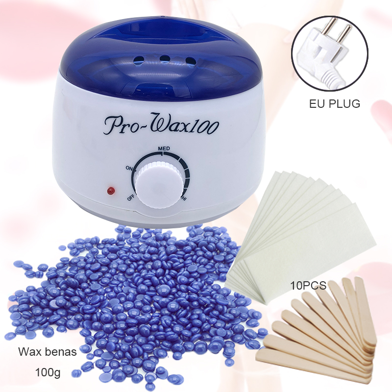 Depilatory waxing kit White Color wax warmer machine paraffine wax heater for hand and feet SPA wax beans epilator hair removal
