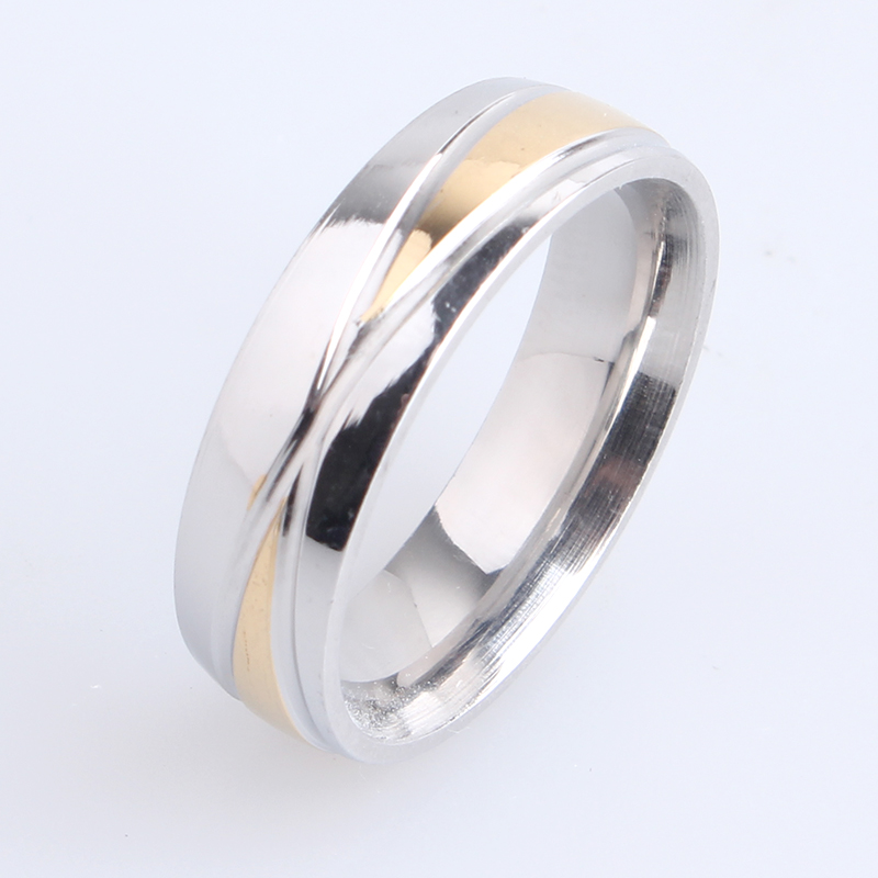 free shipping 6mm cross stripes 316L Stainless Steel finger rings for men women wholesale