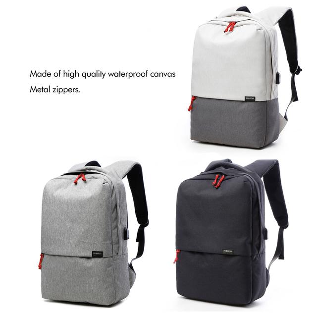 Brand USB Designed Canvas Backpack Women Men School Bag Rucksack High Quality College Student Laptop Bag Back Pack Bagpack