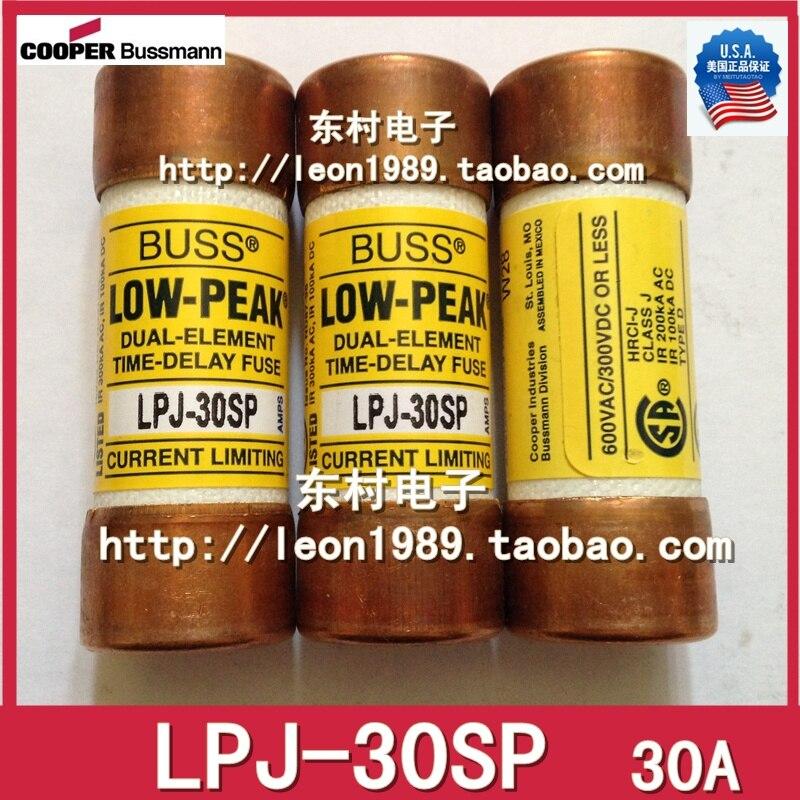 US Fuse BUSSMANN LOW-PEAK fuse LPJ-30SP 30A 600V slow blow