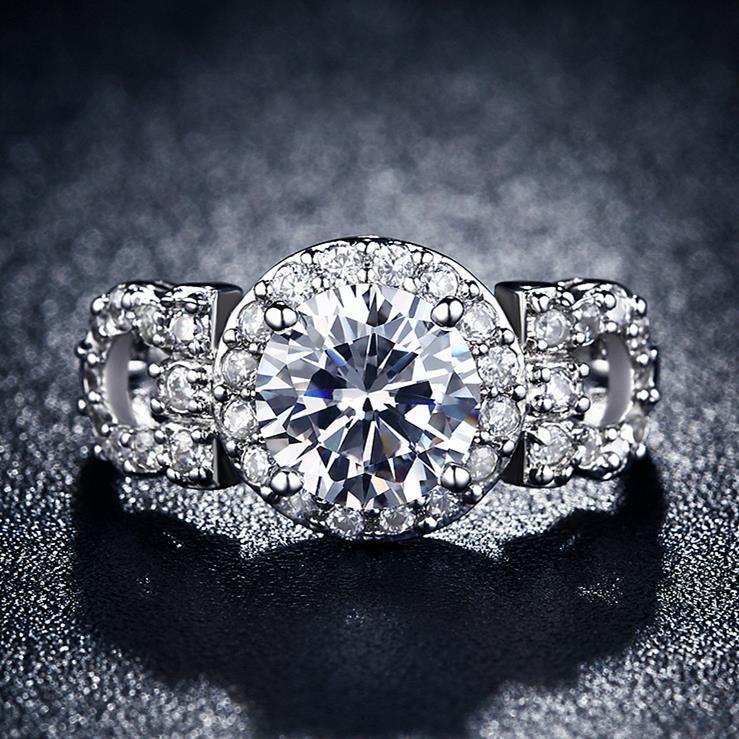 s925 engraved vintage women wedding horseshoe rings