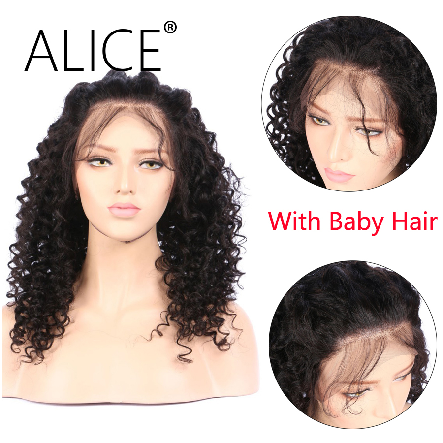 ALICE 360 Lace Frontal Wig With Baby Hair Natural Hairline Non Remy 8-20  (7)