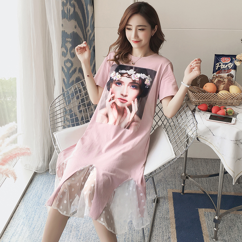 Maternity Clothes Pattern Printing Summer Pregnancy Dress Patchwork Loose Chiffon Maternity Clothing Of Pregnant Women