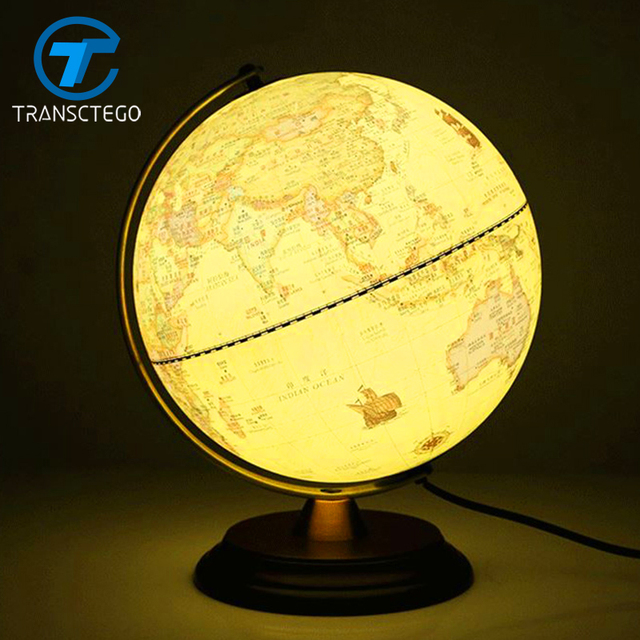 Table Lamp Bedside Lamp Globe Table Light LED Decorative Desk Lamp Retro  Style Bedroom Study Lights