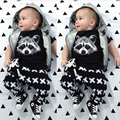 New 2016 Fashion Summer Baby Boy Clothes Cotton Fox Printed T-Shirt + Pants Baby Boy Clothing Set Girls Fashion Infant 2pcs Suit