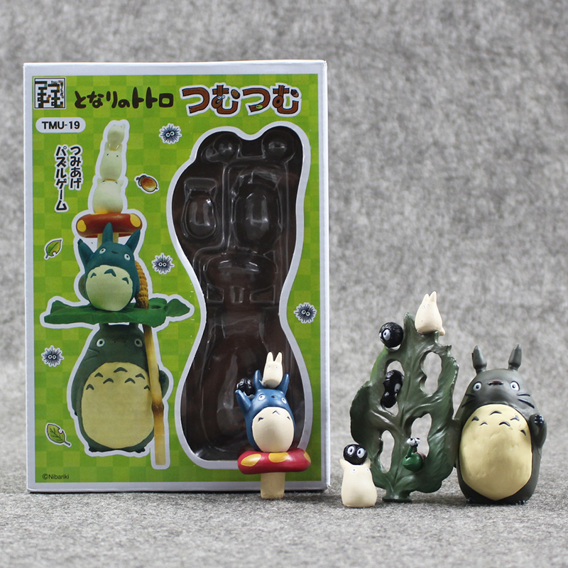 Cute Totoro Cartoon Miyazaki Hayao My Neighbor Totoro Action Figure Collectible Model Toy Free Shipping loz my neighbor totoro toy umbrella totoro model action figure diamond building blocks original box 14 gift 9509