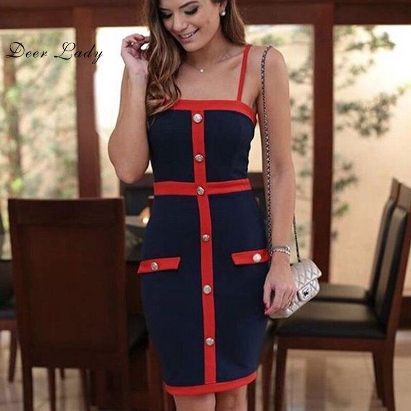 Cerf dame robe de noël femmes hiver Bandage robe rayonne bleu Bandage robe moulante partie V cou Bandage robe en gros