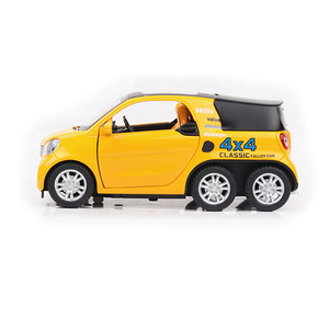 Image 5 - HOMMAT Simulation 1:24 Smart Fortwo 4x4 Pickup Vehicle Model Alloy Diecast Toy Car Model Toys For Children Kids Christmas Gift
