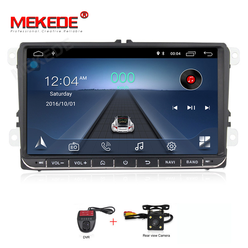 Lecteur multimédia de voiture MEKEDE 2din HD Android DVD de voiture pour Volkswagen Golf Polo Tiguan Passat b7 b6 skoda Radio rapide octavia GPS