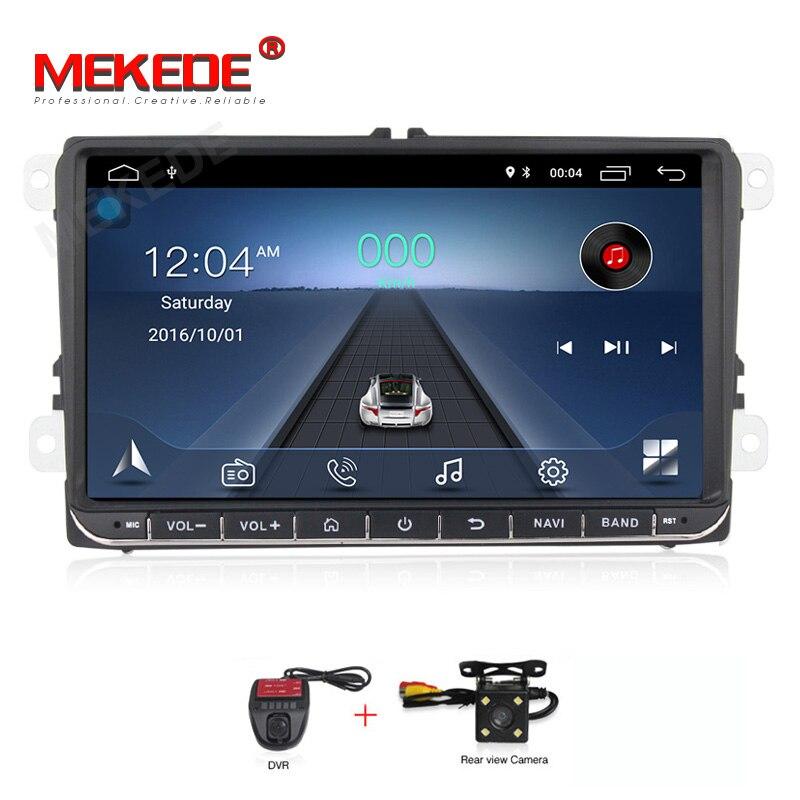 MEKEDE 2din HD Multimedia player Do Carro Android DVD Do Carro Para Volkswagen Golf Polo Tiguan Passat b7 b6 skoda octavia rápida GPS rádio