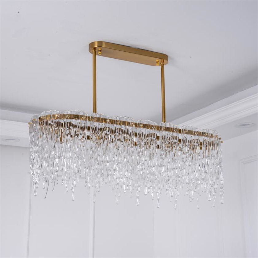 Restaurant bande de lumières LED salon lustre nordique personnalité créative table bar lampe de table simple lumière luxe villa lam