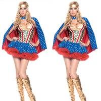 Wonder Woman Diana Prince cosplay Adult Halloween-kostüme für frauen zweiteilige phantasie kleid Film kostüme