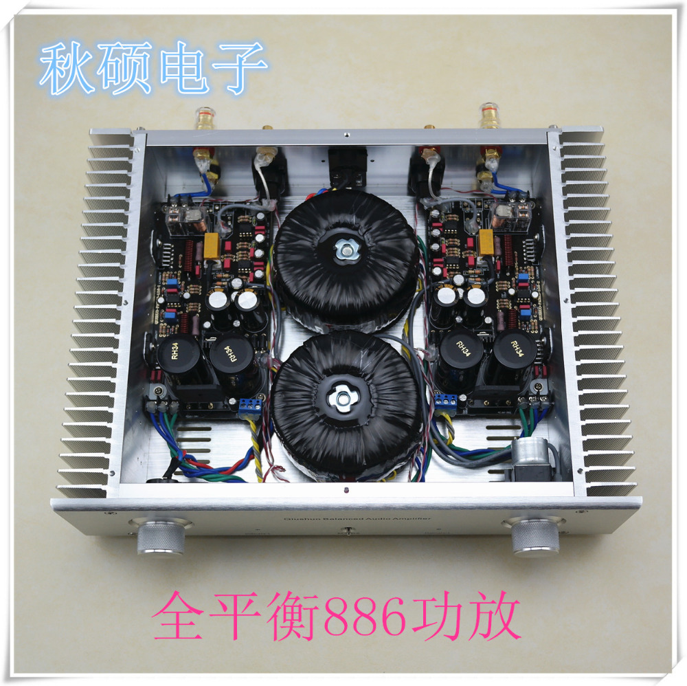 Finished LM3886 Fully Balanced Amplifier Stereo HiFi 120W+120W Audio Power Amp douk audio lm3886 dual parallel pure power amplifier hifi amp board 120w 120w