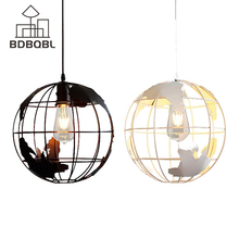 BDBQBL New design Pendant Lamps Metal Painted Industrial Vintage Wall Lamp Hanging Lamp White and Black for Room E27