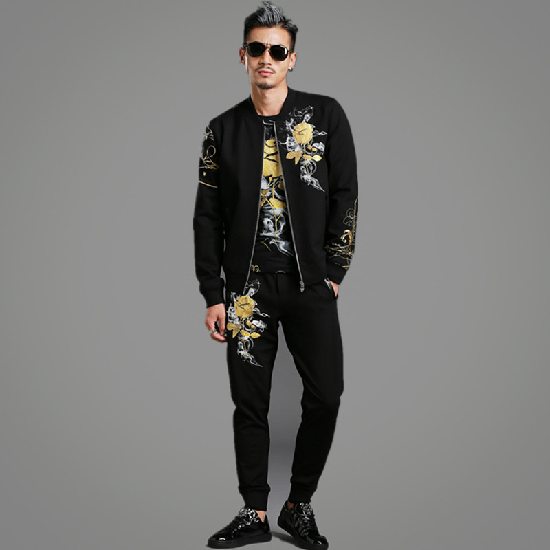Men s casual Thin black jacket simple British style plaid lining new fall 2019 men s