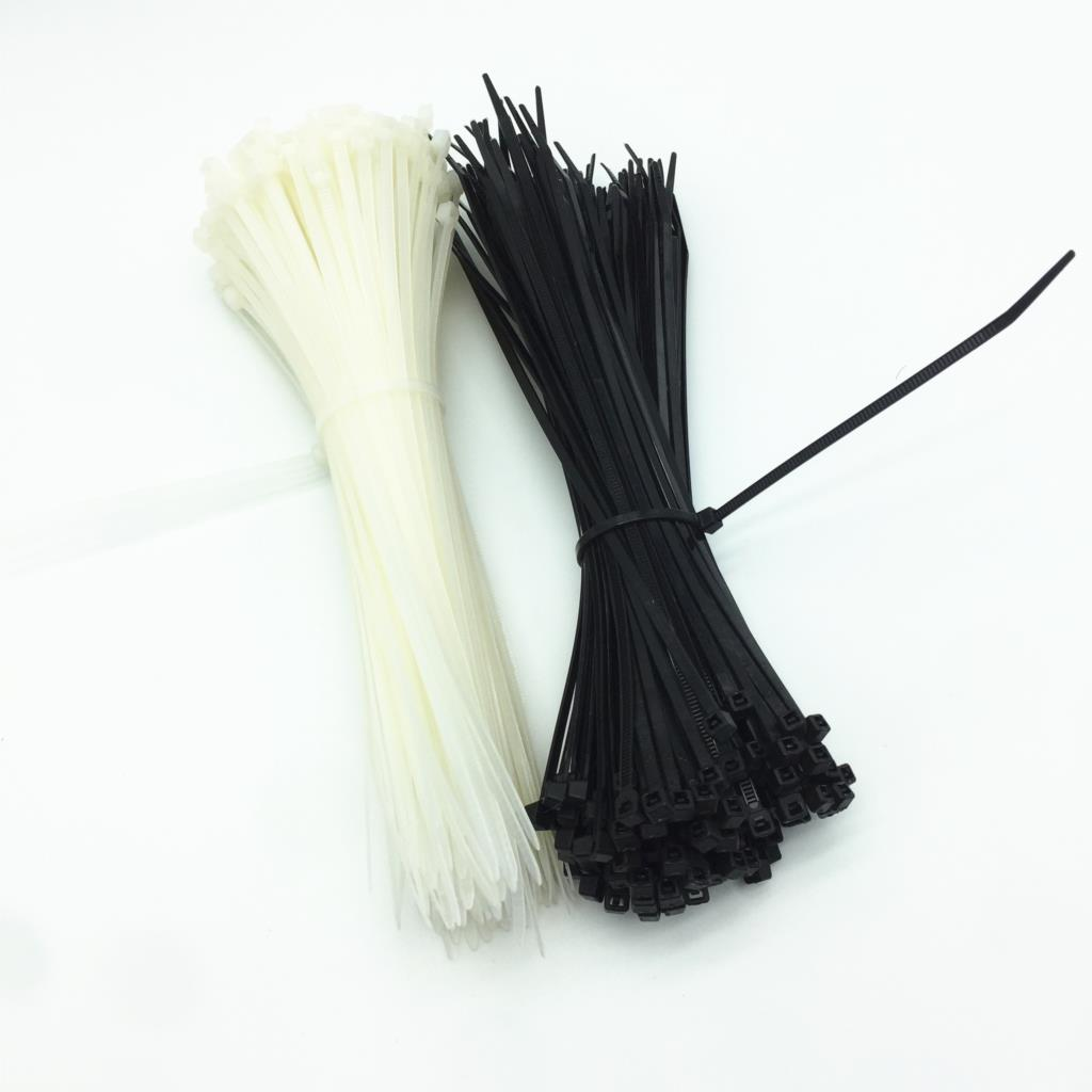 100PCS 3 X 60/80/100/120/150/200mm White Black Milk Cable Wire Zip Ties Self Locking Nylon Cable Tie yds 200m 4 x 200mm self locking nylon cable tie wraps white 500 pcs page 7