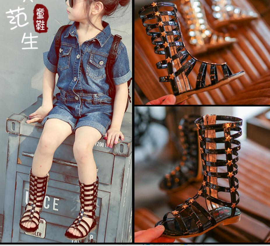 f0bbe62354be 2018 New female child sandals princess shoes high shoes cutout gladiator  baby boots girl s fashion sandals-in Sandals from Mother   Kids on  Aliexpress.com ...