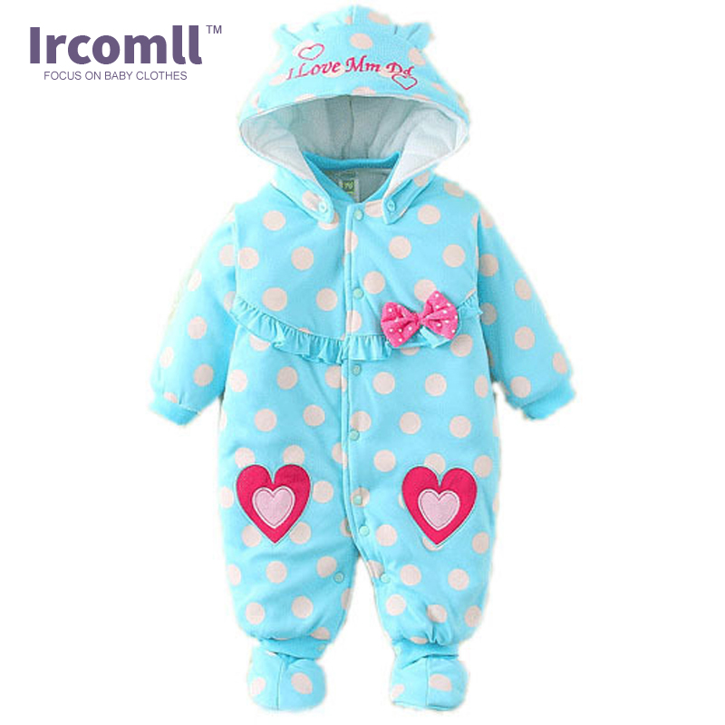 High Quality Baby Rompers Winter babys Boys Outerwear Girls Warm Clothes Cartoon Cotton Kids Jumpsuit Bebe Newborn Clothing new 2017 brand quality 100% cotton newborn baby boys clothing ropa bebe creepers jumpsuit short sleeve rompers baby boys clothes