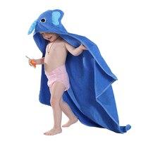 Kids Towel 2017 Toddler 100% Cotton Bathrobe Baby Boys Girls Spring Animal Hooded Bath Towel Children Cartoon Towel New