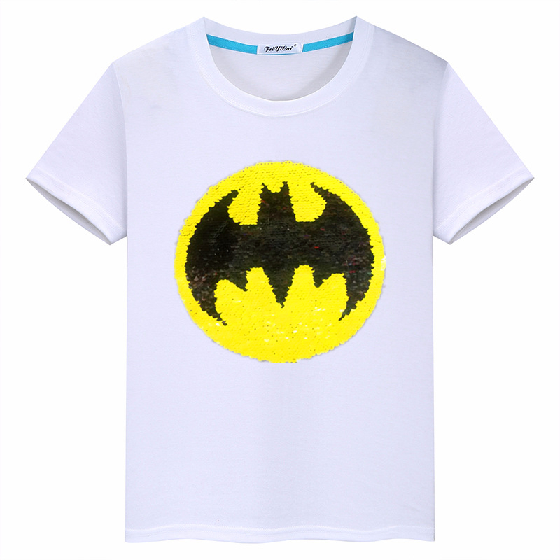 Summer new 2019 hot sequins cartoon reversal cotton short sleeved T shirt children 39 s clothing boys clothes in T Shirts from Mother amp Kids