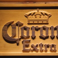 Corona Extra Beer 3D Wooden Signs