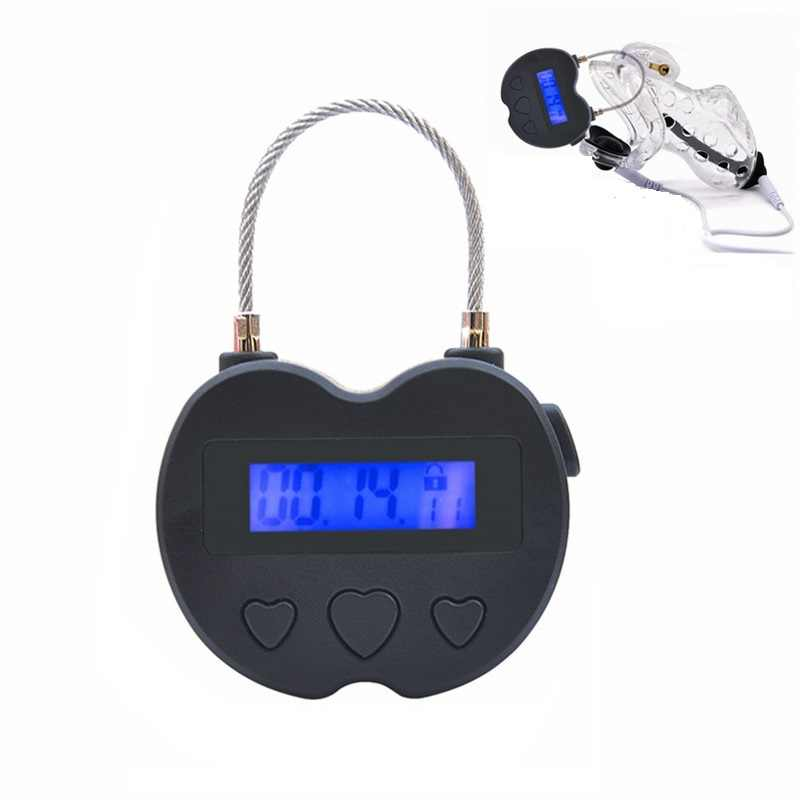Electronic lock handcuff collar Bird Chastity Device cage remote control penis lock bondage electro shock restraint BDSM sex toy