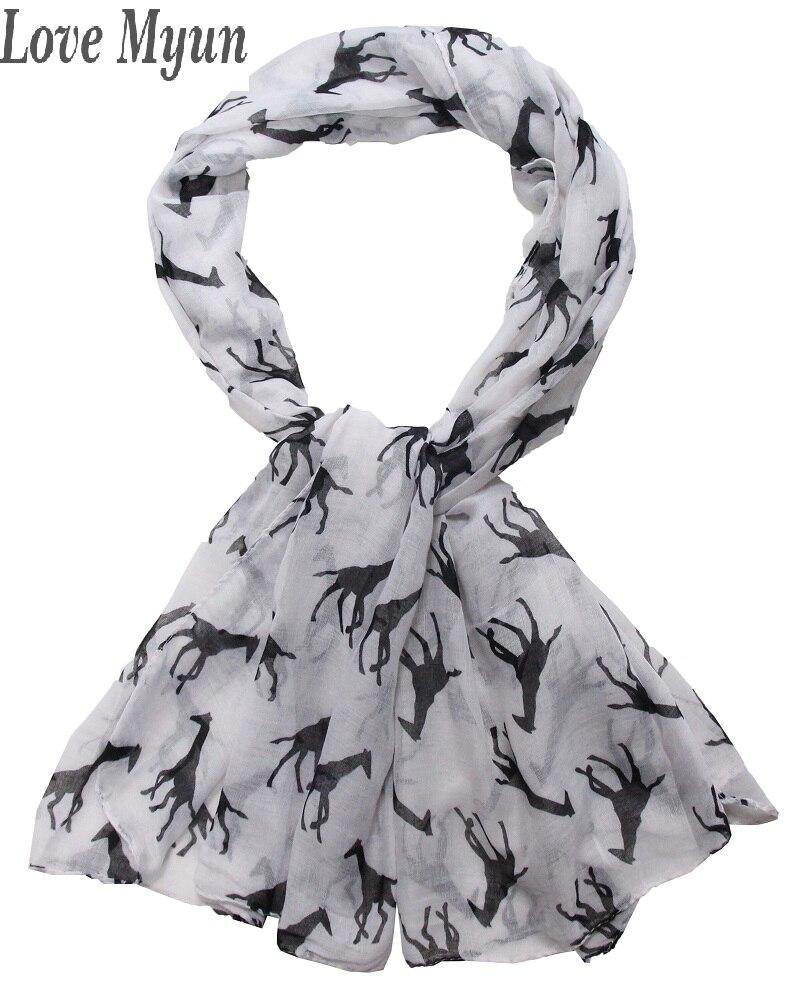 ᐂEnvío libre! Señoras de la manera bufanda del estampado de girafa ...