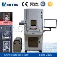 3D laser! AccTek 3W 5W 8W 10W UV crystal glass 3d laser engraving machine
