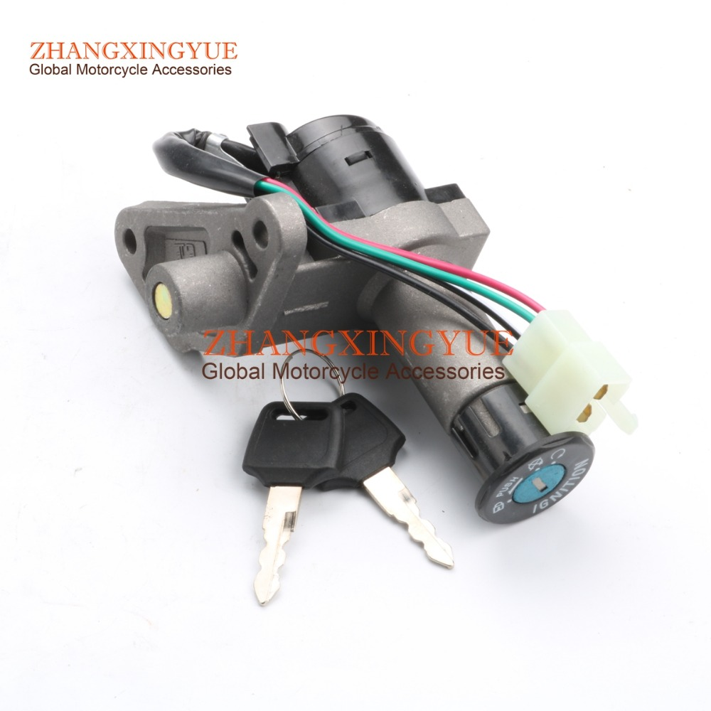 US $12 99 |Key Ignition Switch Lock Set for GY6 50cc 150cc 250cc Scooter  Moped Motorcycle Bike-in Locks & Latches from Automobiles & Motorcycles on