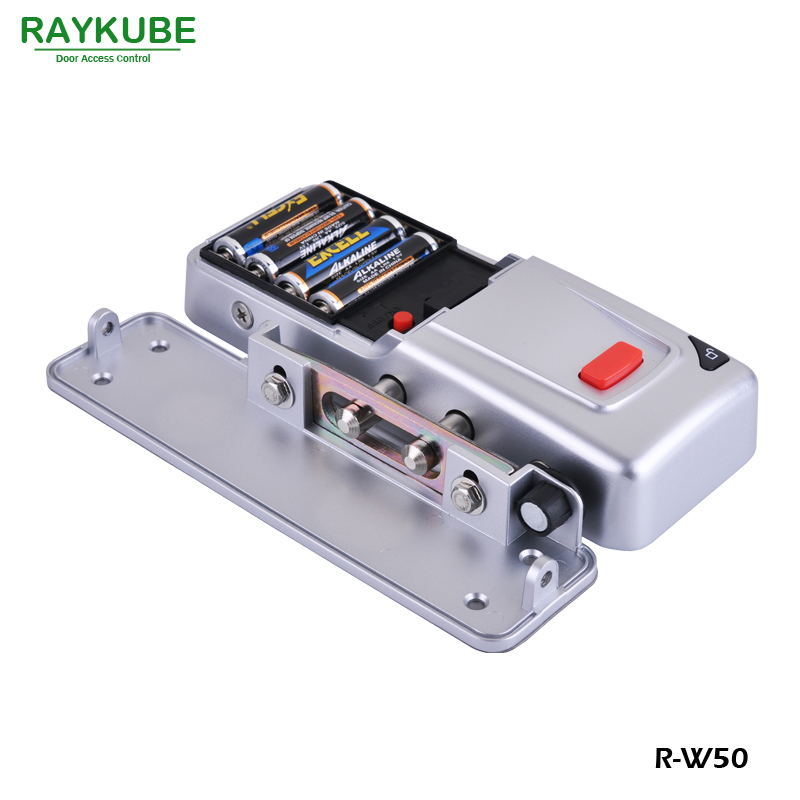 Image 2 - RAYKUBE New Wireless Electric Door Lock Mortise Lock Remote Control Open Door Bolt Lock-in Electric Lock from Security & Protection
