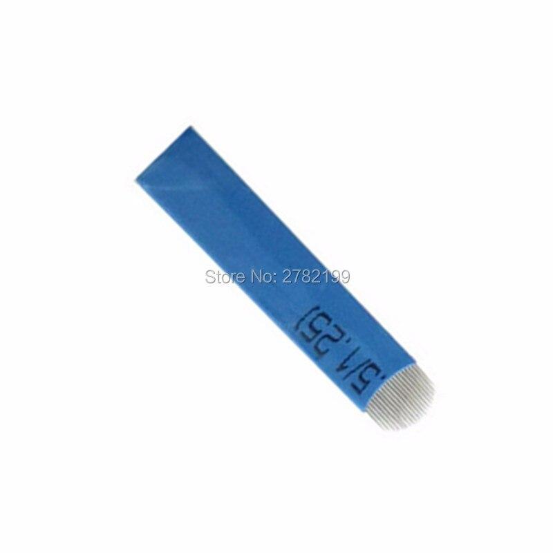 100 Pcs Tattoo Needles 18 Pins U Shape Microblading Lamina U Sobrancelha Tebori 18 Pontas U Blades Eyebrow Permanent Manual Pen 16