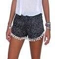 As mulheres menina Shorts cintura elástica acetato senhoras verão calças curtas