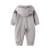 Auro mesa bebê recém-nascido meninos macacões romper do bebê com capuz meninos marca do bebê roupas de bebê recém-nascido