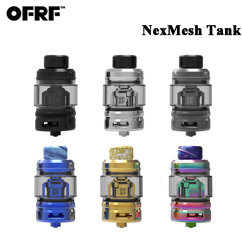 Original OFRF nexMESH SubOhm Tank 5 5ml E Cigarette Atomizer 25mm Double Vapor Compression System Conical