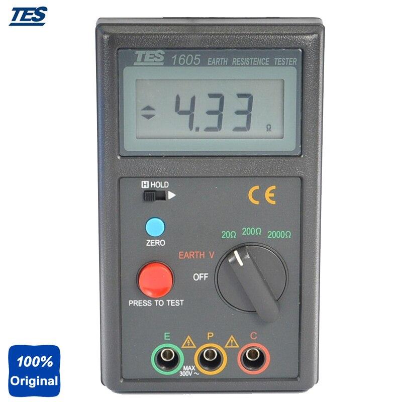 TES-1605 mesure de la tension de la terre, testeur de résistance à la terre, testeur de terre numérique