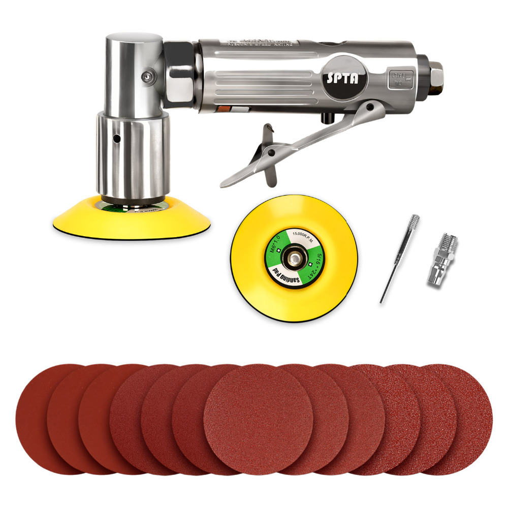 ZFE 3inch Random Air Palm Sander Car polisher Sets For Car Polishing Sanding Paper Pad Backing Plate And Do Waxing zfe m14 converts polisher pad backing plate to 5 16 da polish thread for air sander