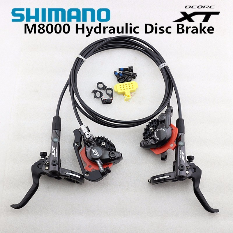 Shimano Deore XT M8000 Hydraulic Disc Brake Set Brake Lever + M8000 Hydraulic Disc Brake Black with ICE-TECH PADS organic disc brake pads set for shimano xtr xt lx hone deore saint slx