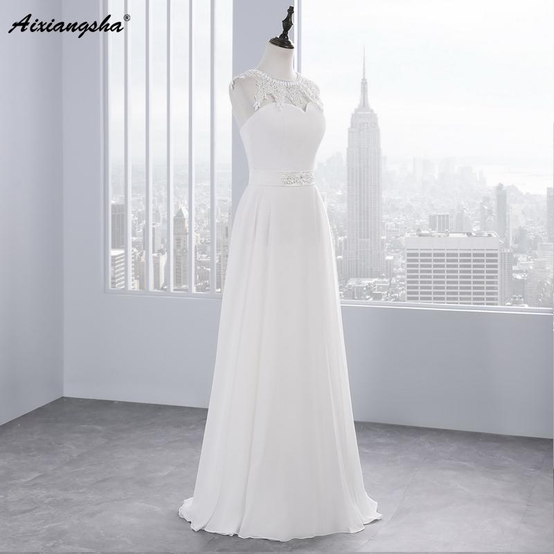 New Hot Selling Vestido de Noiva Casamento Robe De Mariage Scoop A-line lace Appliques Custom Made Wedding Dresses 2