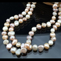 2017 More Color For Choose,48inches Natural Freshwater Pearl Necklace,Handmade Real Jewelry