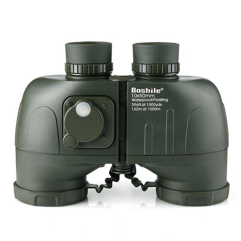 Super recommander 10X50 jumelles télescope Binoculo jumelles mise au point étanche antichoc avec boussole