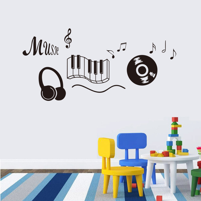 Music Theme Stickers Eco Friendly Removable Vinyl Wall Decals For Home Decor Kid S Room School Sofa Background Murals