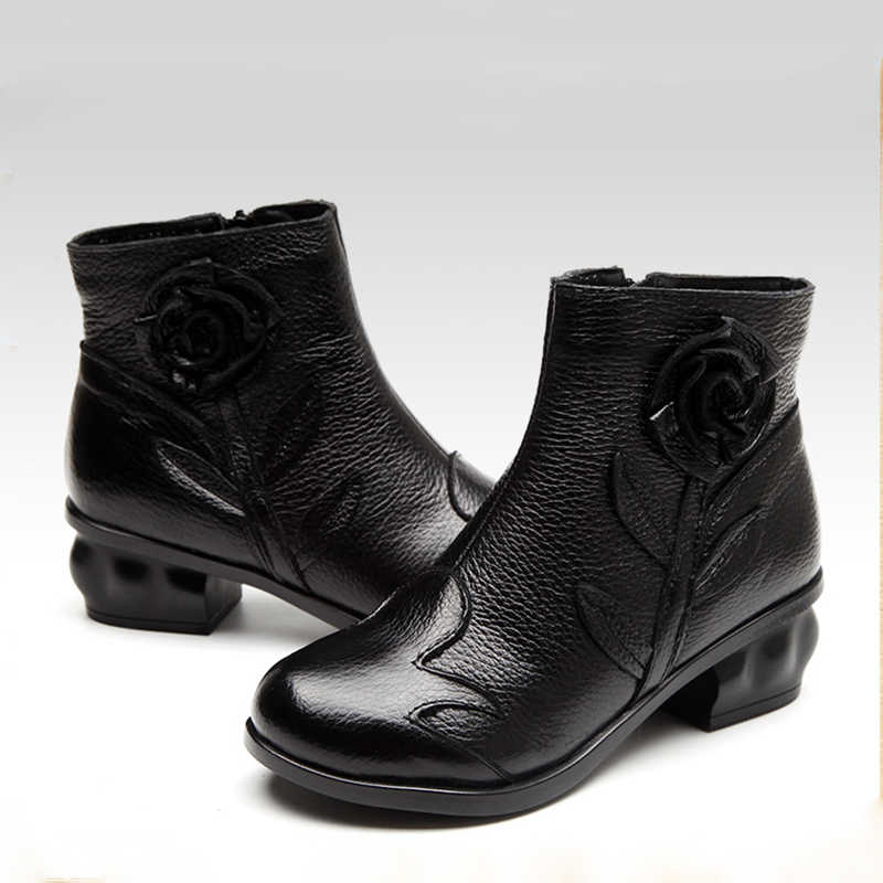 Moda hakiki deri kış ayak bileği çizmeler kadın ayakkabıları patik kadın Martin çizmeler platform ayakkabılar Botines Mujer 2019